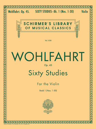 Product Cover for Wohlfahrt – 60 Studies, Op. 45 – Book 1