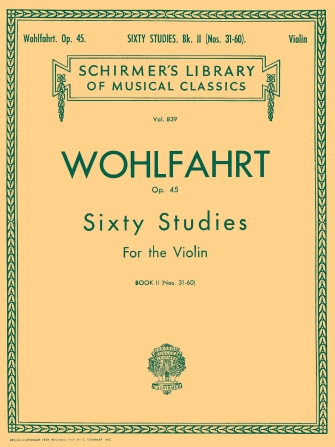 Product Cover for Wohlfahrt – 60 Studies, Op. 45 – Book 2