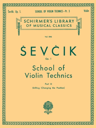Product Cover for School of Violin Technics, Op. 1 – Book 3