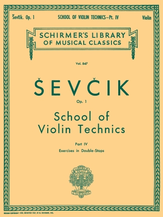 Product Cover for School of Violin Technics, Op. 1 – Book 4