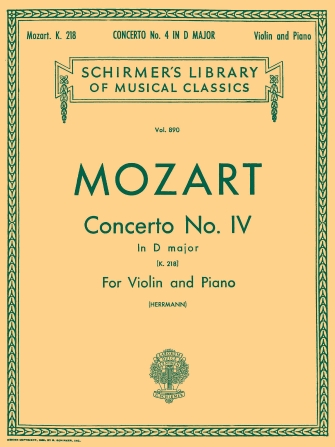 Product Cover for Concerto No. 4 in D Major, K.218