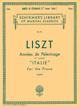 """Product Cover for Annèe De Pèlerinage – Book 2: """"Italie"""""""