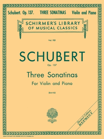 Product Cover for Three Sonatinas, Op. 137