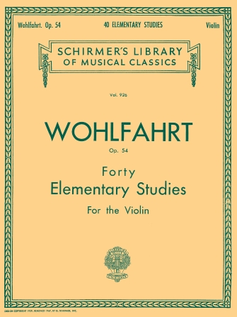 Product Cover for 40 Elementary Studies, Op. 54