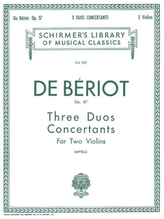 Product Cover for 3 Duos Concertante, Op. 57