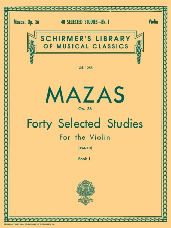 Product Cover for 40 Selected Studies, Op. 36 – Book 1