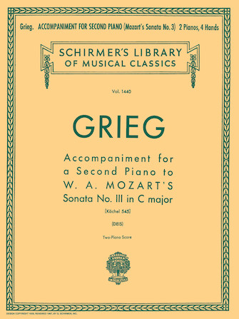 Product Cover for Accompaniment for a 2nd Piano to Mozart Sonata K545