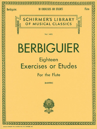 Product Cover for Benoit Berbiguier: Eighteen Exercises or Etudes