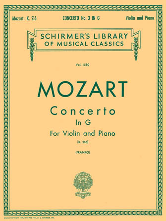 Product Cover for Concerto No. 3 in G, K.216