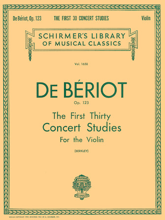Product Cover for First 30 Concert Studies, Op. 123