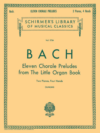 Product Cover for 11 Chorale Preludes from the Little Organ Book (2-piano score)