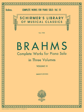 Product Cover for Complete Works for Piano Solo – Volume 3