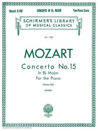 Product Cover for Concerto No. 15 in Bb, K. 450