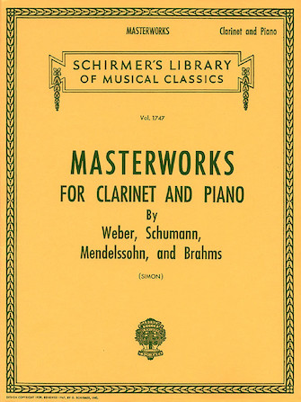 Product Cover for Masterworks for Clarinet and Piano