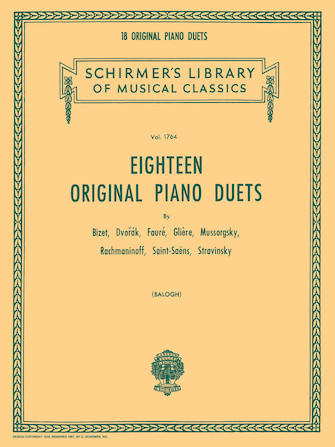 Product Cover for 18 Original Piano Duets