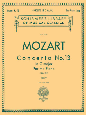 Product Cover for Concerto No. 13 in C, K. 415