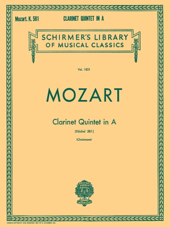 Product Cover for Clarinet Quintet in A, K.581