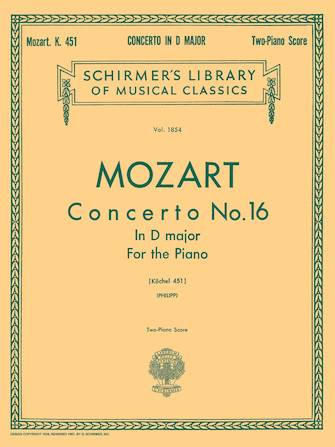 Product Cover for Concerto No. 16 in D, K.451