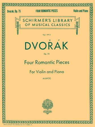 Product Cover for Four Romantic Pieces, Op. 75