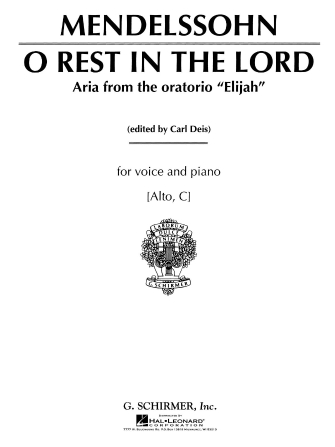 Product Cover for O Rest in the Lord (from Elijah)