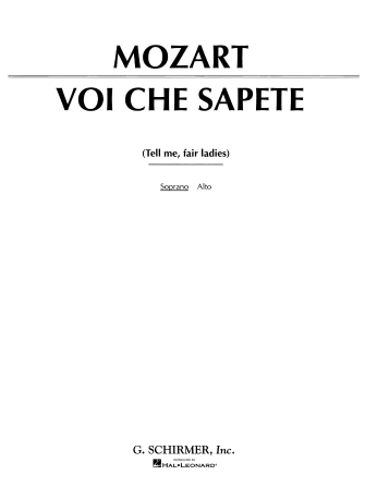 Product Cover for Voi che sapete (from Le Nozze di Figaro)