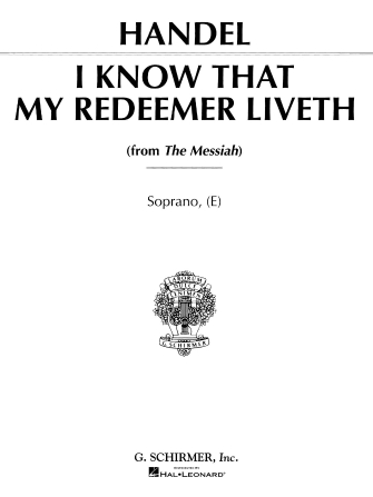 Product Cover for I Know That My Redeemer Liveth (from Messiah)