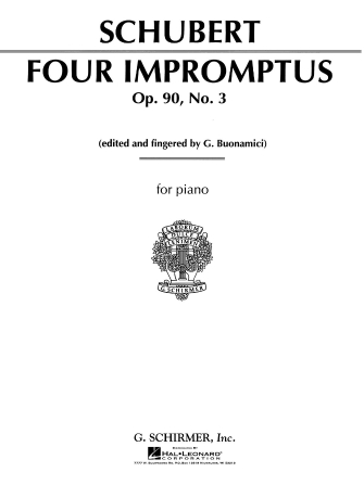 Product Cover for Impromptu, Op. 90, No. 3 in G Major
