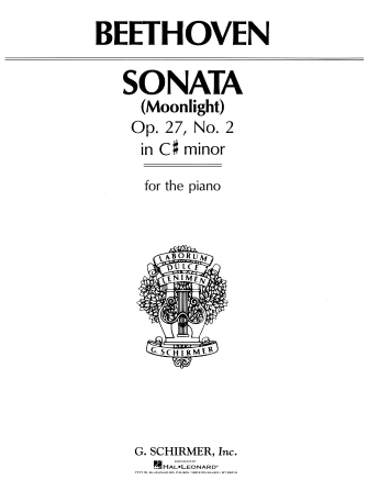 "Product Cover for Sonata in C-Sharp Minor, Opus 27, No. 2 (""Moonlight"")"