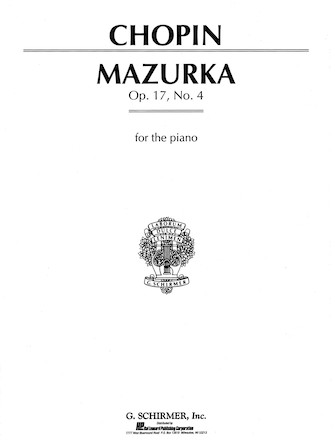 Product Cover for Mazurka, Op. 17, No. 4 in A Minor