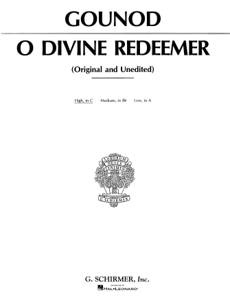 Product Cover for O Divine Redeemer
