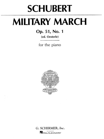 Product Cover for Military March, Op. 51, No. 1