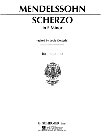 Product Cover for Scherzo in E Minor, Op. 16, No. 2