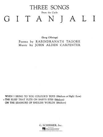 Product Cover for Sleep That Flits on Baby's Eyes (from Gitanjali)