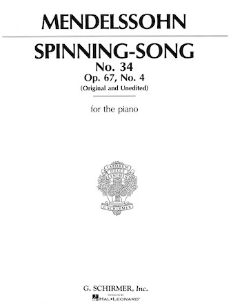 Product Cover for Spinning Song, Op. 67, No.34