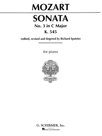 Product Cover for Sonata No. 3 in C Major K545