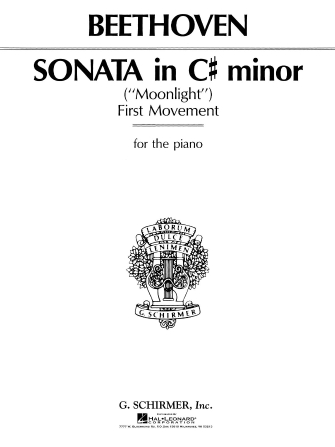 """Product Cover for Sonata in C# Minor, Op. 27, No. 2 (""""Moonlight"""")"""