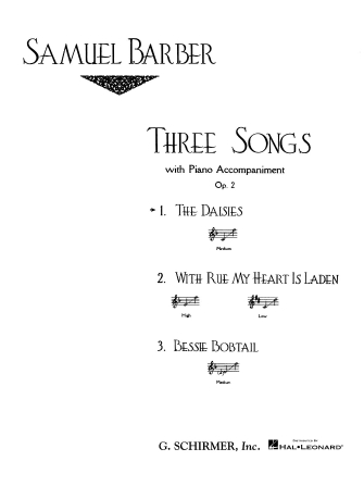 Product Cover for The Daisies, Op. 2, No.1