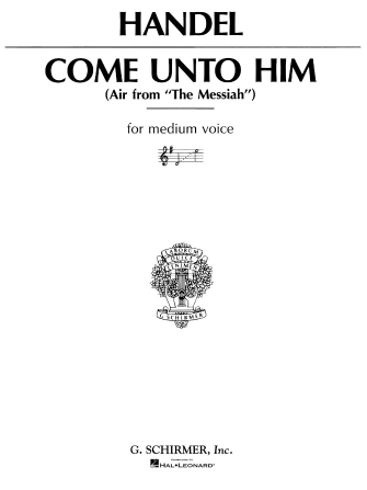 Product Cover for Come Unto Him (from Messiah)