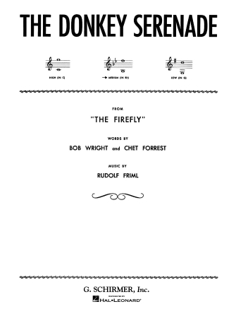 Product Cover for Donkey Serenade (from The Firefly)