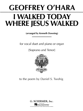 Product Cover for I Walked Today Where Jesus Walked