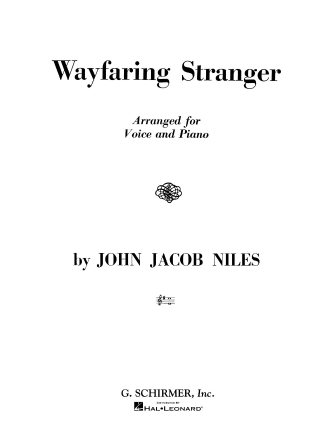 Product Cover for Wayfaring Stranger