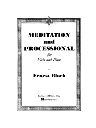 Product Cover for Meditation and Processional