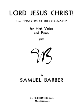 Product Cover for Lord Jesus Christ from Prayers of Kierkegaard