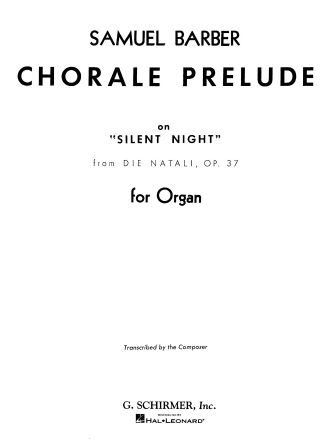 Product Cover for Chorale Prelude Silent Night (from Die Natali), Op. 37