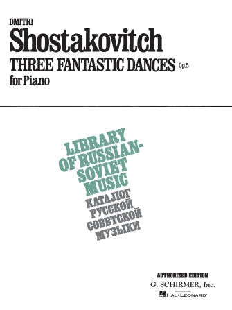 Product Cover for 3 Fantastic Dances, Op. 5