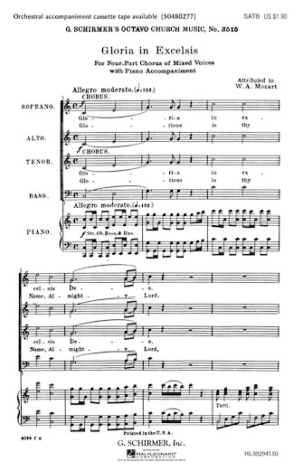 Product Cover for Gloria in Excelsis from Twelfth Mass