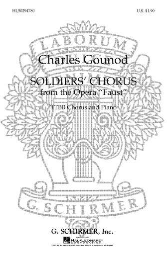 Product Cover for Soldiers Chorus From 'Faust')