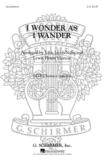 Product Cover for I Wonder As I Wander
