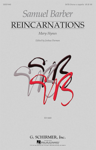 Reincarnations - No. 1: Mary Hynes : SATB : Samuel Barber : Samuel Barber : Sheet Music : 50301440 : 073999014402