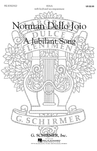 Product Cover for Jubilant Song, A